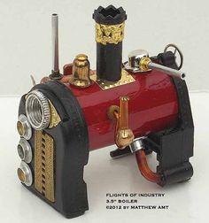 Steampunk Miniature Boiler by FlightsofIndustry on Etsy