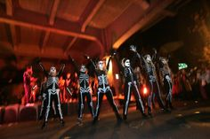 When dancing skeletons showed up under the Aurora Bridge.