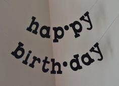 Syllable HAPPY BIRTHDAY Felt Banner / lower by String Dearie Studio