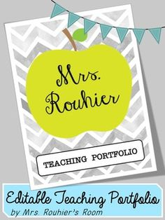 Editable teaching portfolio template multicolor for Teaching portfolio template free