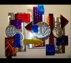 3 Piece Color Abstract Metal Wall Art