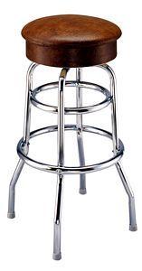 Button Top Bucket Frame Swivel Barstool Bar Stools