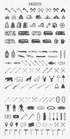 Outdoor Logo Creation Kit Camping and outdoor logos in a great set of vintage vector objects.Camping and outdoor logos in a great set of vintage vector objects. Camping Snacks, Camping Desserts, Camping Theme, Camping Games, Family Camping, Camping Ideas, Logo Design, Design Tattoo, Graphic Design