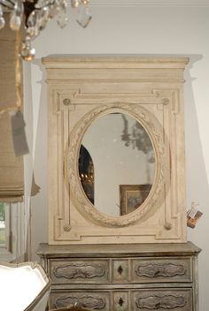 19th Century French Louis XVI Style Painted Mirror image 2
