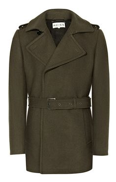 Reiss olive trench coat