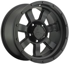 Pro Comp Metal Mulisha Series 5038 Alloy Wheel in Satin Black for Jeep Vehicles with 5x5 Bolt Pattern in 17x9 Size & 4.75 Backspacing