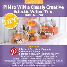 Pin to Win, candle lovers! #PartyLite