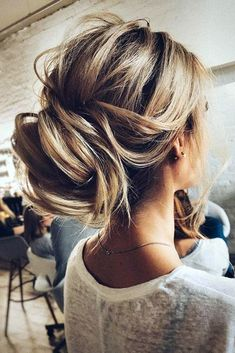 pinterest wedding hairstyles messy swept bun tonyastylist via instagram #weddinghairstyles
