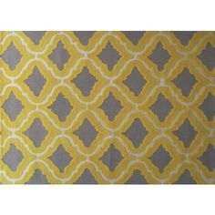 Hand-hooked Marrakesh Yellow Area Rug (7' x 10')   Overstock.com Shopping - The Best Deals on 7x9 - 10x14 Rugs