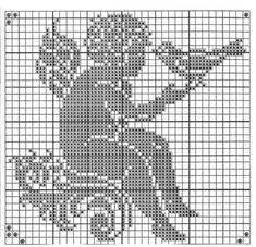 angel with birth Filet Crochet, Crochet Cross, Crochet Chart, Thread Crochet, Stitch And Angel, Cross Stitch Angels, Cross Stitch Heart, Crochet Angel Pattern, Crochet Angels