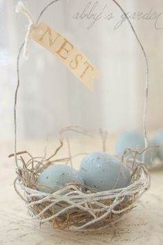 robin's egg wire basket