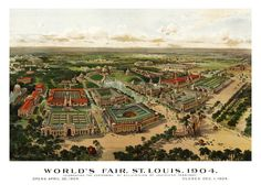 St Louis Map 1904 Panoramic Birds Eye View Map of by TheMapShop, $12.95