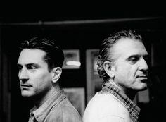 Robert De Niro and his father, Robert De Niro Senior.