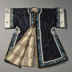 Woman's Fur-lined Winter Surcoat, China, 19th century