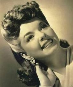 """Frances Langford was a """"B"""" actress in Hollywood and a Big Band singer. She shared an apartment with my grandmother for a couple of years. One of these days I'll dig out those scrapbook photos of the two of them to post!"""