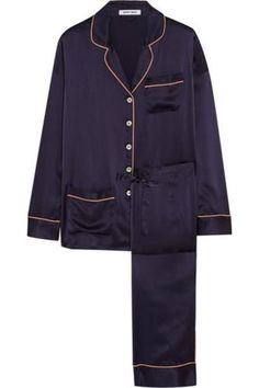 Coco silk-satin pajama set #nightwear #covetme #Olivia von Halle
