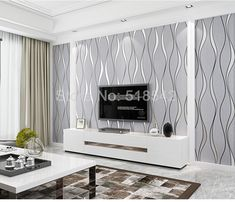 3D Striped Elegant Wallpaper TV Background Wall Decor