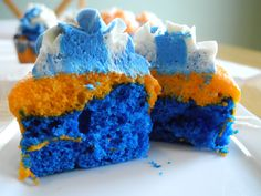 Bronco Cup Cakes | Football Food