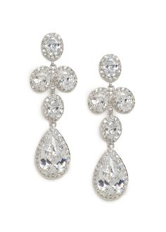 These stunning crystal drops boast both beauty and balance, featuring a tier of shimmering oval gems and most importantly, a massive crystal teardrop.
