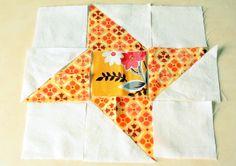 Hand Pieced Quilt-A-Long Block #8 Friendship Star
