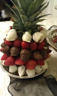 Love the bouquet of chocolate covered strawberries