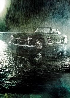 1955 Mercedes-Benz 300 SL   W198   Sport Leicht   Sport Light   Benz SL-Klasse Grand Touring Coupe   Gullwing   3.0L Straight 6 212 hp   Top Speed 260 kph 161 mph   Benz produced the Gull-wings from...