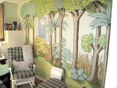 This Wild Thing mural could be done with paper & applied for the party or drawn on a chalkboard wall.
