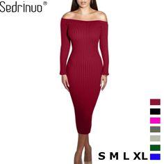 d488b5aca5 Women Dress Slim Bodycon Knitted Sweater Bodycon Dress Parties