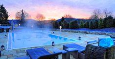 Outdoor Pool im Hotel Freund****S  #pool #swimmingpool #wellness #spa #wellnesshotel #relaxing #nature #germany