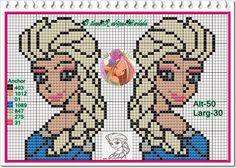 Elsa Frozen perler bead pattern