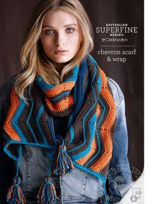 wrap, crochet, scarf, womens, 8 ply, pattern, superfine, merino, Cleckheaton