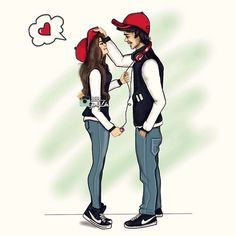 Most popular tags for this image include: love, couple, girly_m and boy Couple Sketch, Cute Couple Drawings, Cute Couple Art, Girly Drawings, Love Drawings, Cute Couples, Girly M, Love Cartoon Couple, Cartoon Girl Images