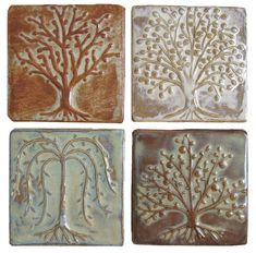 Some of the amazing low relief tile and glazes complete by Emily at Emu Tile.  Made here in the USA