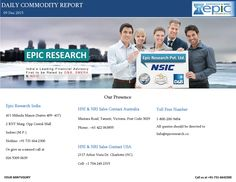 Epic research daily commodity report 09 december 2015  Epic Research is expertise in serving Stock Market recommendations generated by the experienced research team whose technical analysis is best for all the segments of the Indian share market and Global market.