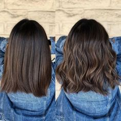 19 Trendsetting Short Brown Hair Colors for 2019 - Style My Hairs Brown Hair Balayage, Brown Hair With Highlights, Hair Color Balayage, Brown Hair Colors, Short Balayage, Balayage Straight, Haircolor, Medium Hair Cuts, Medium Hair Styles
