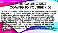 Owen welcomes you to SPirit Calling KIds. - YouTube