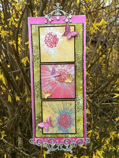 Birdcage Craft Studio: Yellow, Pink & Green. This months Theme for the In...