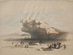 Approach to Petra, an Ancient Watch Tower Commanding the Valley of El Chor | Cleveland Museum of Art, David Roberts