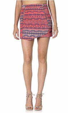 Miss Me Pink Jarquard Zipper Skirt - Dusty Diamonds Boutique