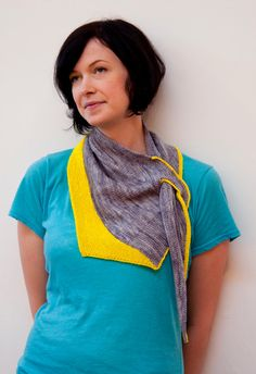 Another quirky knit by Ruby Submarine. Asymmetrical shawl.