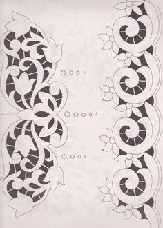 Cutwork Embroidery, Embroidery Flowers Pattern, Flower Patterns, Embroidery Designs, Cut Work, Motif Floral, Needle And Thread, Diy Gifts, Stencils