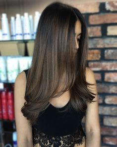 This brown on brown balayage 😍😍😍 #fleek 🙌🏼 #hairbykristiwalsh #kristiwalsh #off7th #off7thsalon #olaplex #balayage
