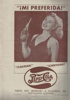 Anuncio Pepsi Cola en la publicación Puerto Rico Al Día para los años 1949-1950 | Historia y Genealogia PR