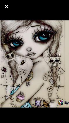 Ideas For Bathroom Art Diy Paintings Craft Ideas Vodoo Tattoo, Skull Tattoos, Girl Tattoos, Catrina Tattoo, Doll Drawing, Et Tattoo, Frida Art, Day Of The Dead Art, Skull Artwork