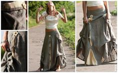 Длинная бохо юбка выкройка