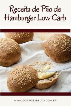 A Receita pão de hambúrguer low carb é muito prática e gostosa. É uma ótima opção de pão para substituir o pão tradicional e não sair da sua rotina de comer alimentos saudáveis que não prejudicam a sua dieta. #receitaslowcarb #receitassaudaveis #receitasfit #alimentacaosaudavel
