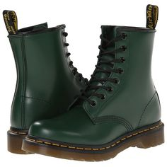 Dr. Martens 1460 W Women's Boots ($125) ❤ liked on Polyvore featuring shoes, boots, dr. martens, ankle boots, yellow boots, short boots, bootie shoes ve yellow ankle boots