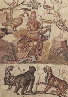 Orpheus (2nd to 3rd c. AC). Zaragoza Museo. Caesaraugusta. Mosaic // Flickr by saamiblog