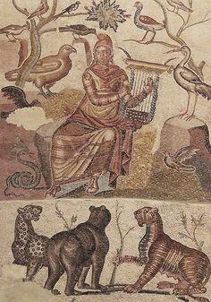 Orpheus (2nd to 3rd c. AC). Zaragoza Museo. Caesaraugusta. Mosaic // Flickr by saamiblog