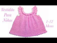 Como tejer un vestido Pinafore fácil y rápido para niñas en gancho 3-6 meses   138 -Crochet for Baby 45872ad70be4